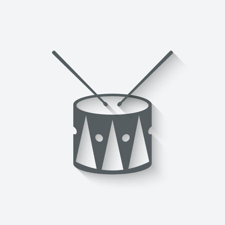 drum music icon - vector illustration. eps 10 Vector