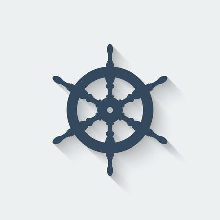 timon barco: volante elementos de dise�o - ilustraci�n vectorial. Vectores