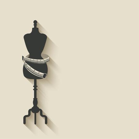 sewing mannequin background - vector illustration.