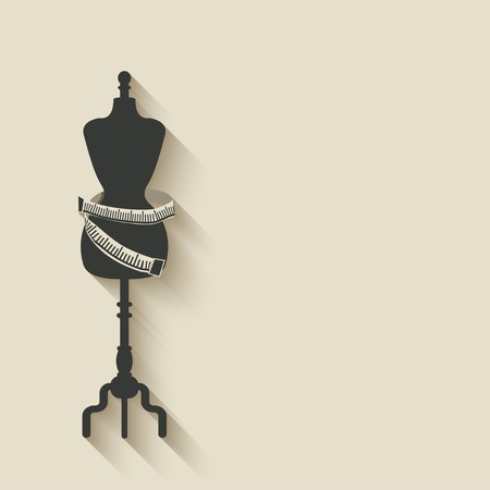 sewing mannequin background - vector illustration.