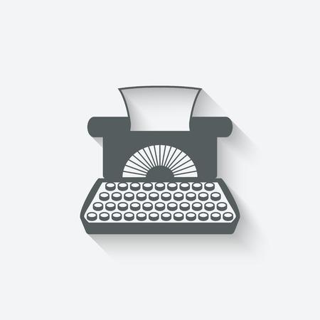 typewriter machine: retro typewriter design element - vector illustration.  Illustration