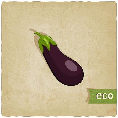 aubergine: Aubergine �ko Hintergrund - Vektor-Illustration.