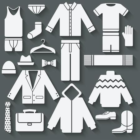 Menswear icons set - vector illustration. eps 10 Vector