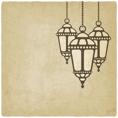 Ramadan lantern old background - vector illustration. eps 10 Vector