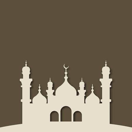 Mosque Islamic background - vector illustration. eps 10