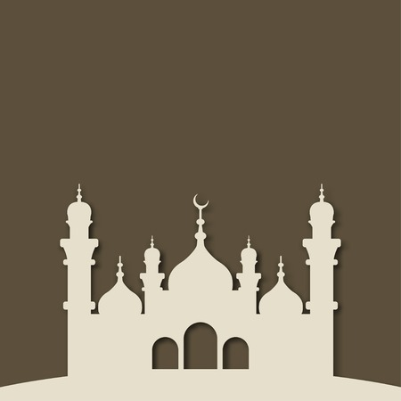 adha: Mosque Islamic background - vector illustration. eps 10