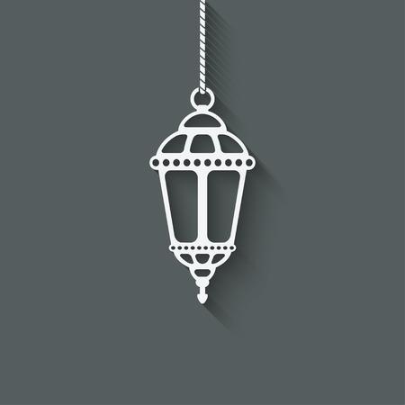 Ramadan lantern design element - vector illustration. eps 10