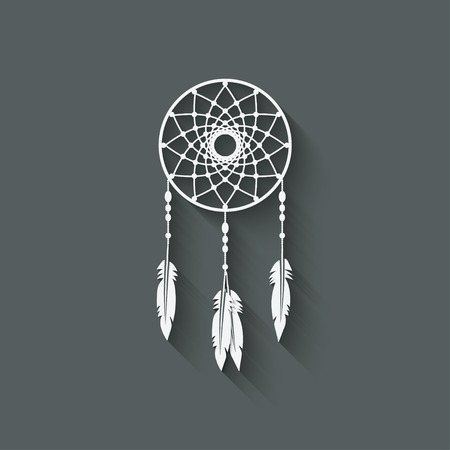 Dreamcatcher design element - vector illustration.