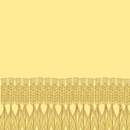 harvest background: wheat harvest background - vector illustration.