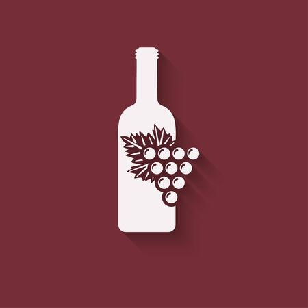 grapes wine design element - vector illustration.  Vector