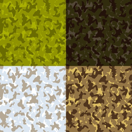 Camouflage seamless pattern - vector illustration.  Vector