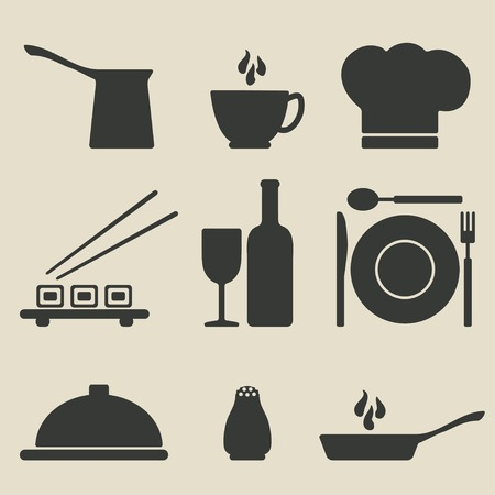 cooking icons set - vector illustration.  Vector