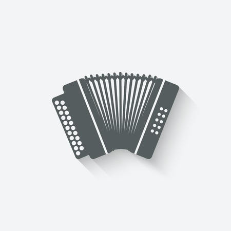 accordion: accordion music design element - vector illustration.  Illustration