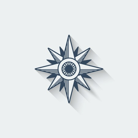 north star: wind rose design element