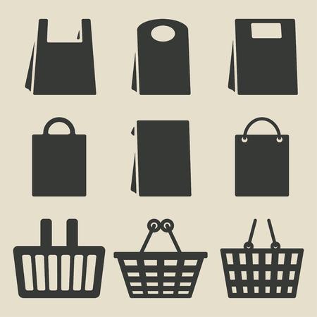 store bag set Vector