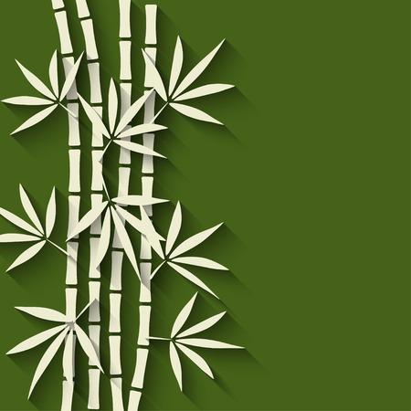 대나무 녹색 배경