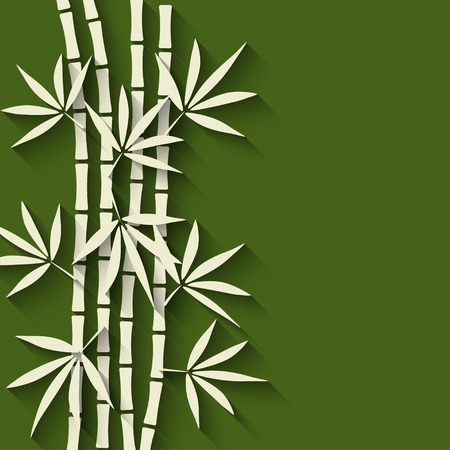 bamboo green background Illustration