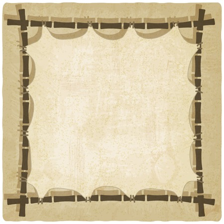 bamboo border: bamboo old background Illustration