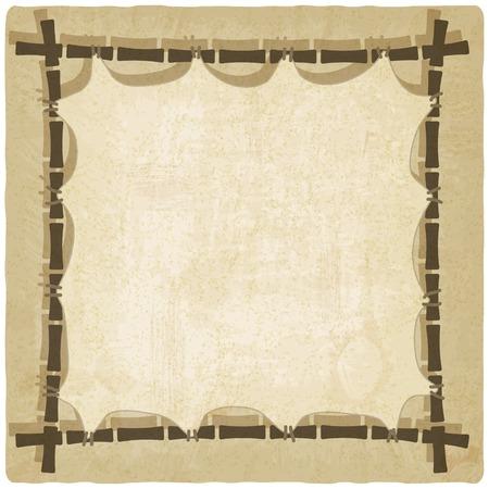 old background: bamboo old background Illustration