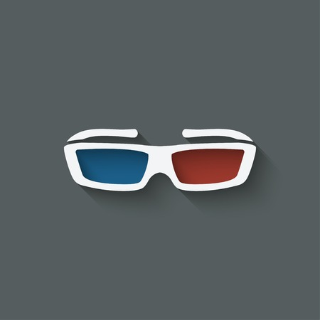 3D glasses: 3d glasses design element Illustration