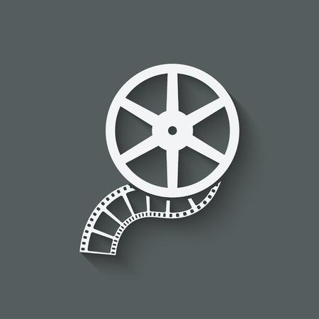 rollo pelicula: películas en rollo elemento de diseño Vectores