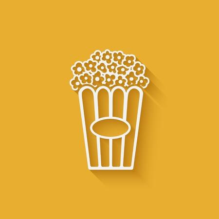 popcorn design element Illustration