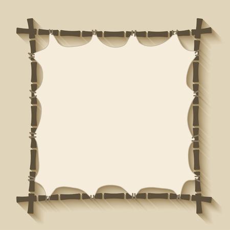 bamboo border: bamboo frame background Illustration