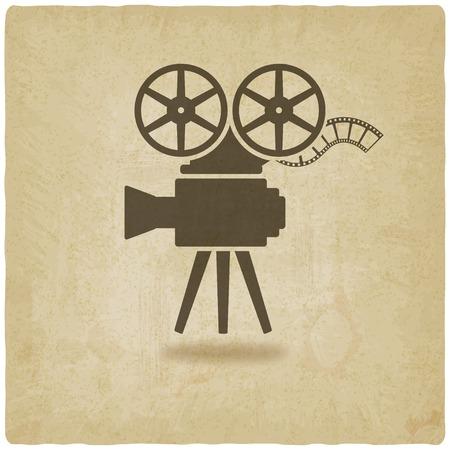 reel to reel: camera old background Illustration