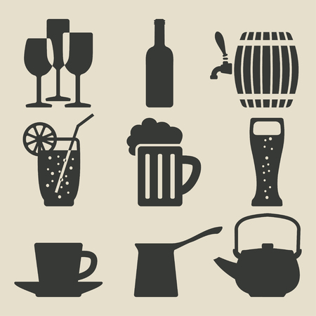 turk: drink icons set