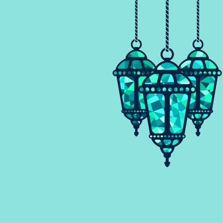 Ramadan lantern background