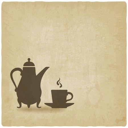 comida arabe: ceremonia del café fondo antiguo Vectores