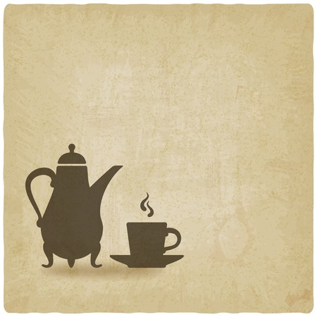 arabic food: coffee ceremony old background