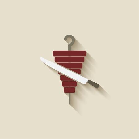 doner kebab design element