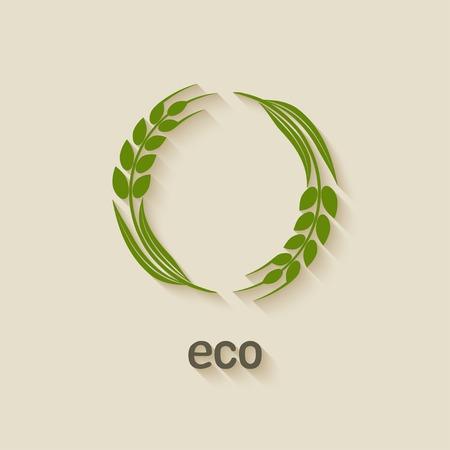 wheat eco symbol Illustration