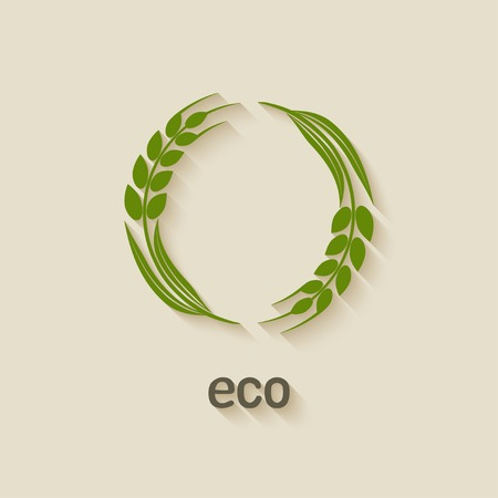 rice plant: wheat eco symbol Illustration