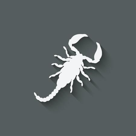 sting: scorpion design element Illustration