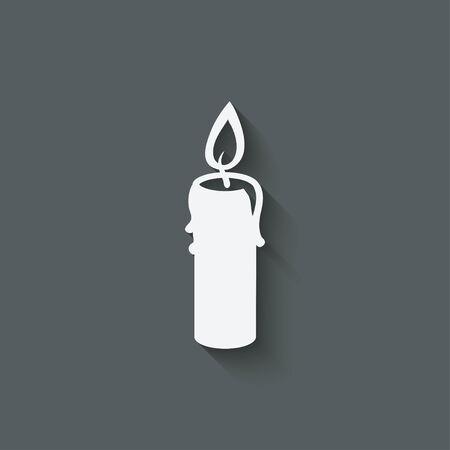 candle design element Illustration