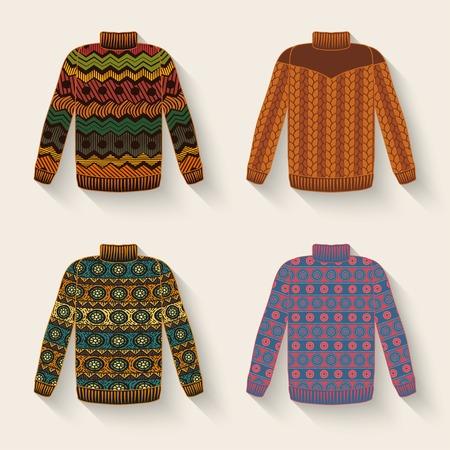 cute sweater set Vettoriali