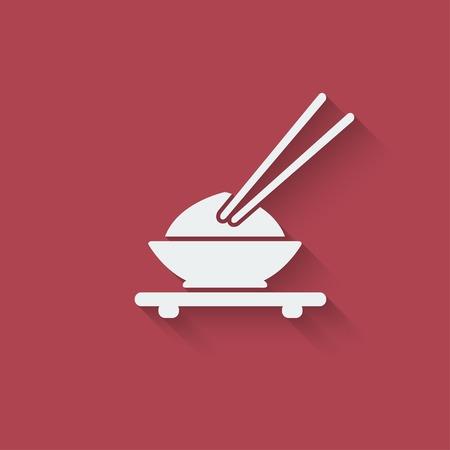Asian food design element