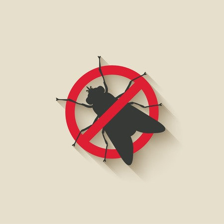 pest control: fly warning sign