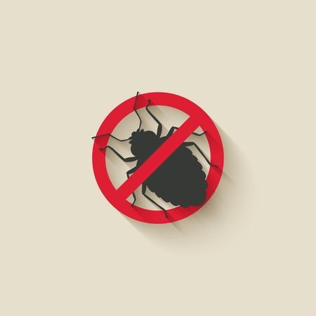 an insect: bug warning sign