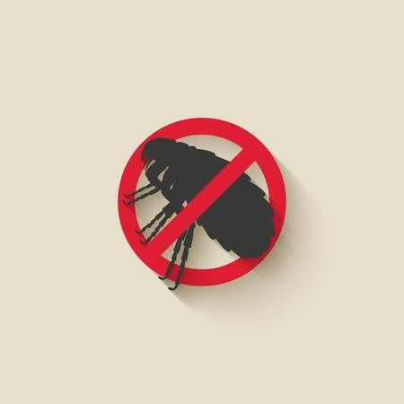 flea: flea warning sign