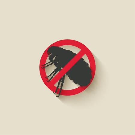 flea: pulga se�al de advertencia
