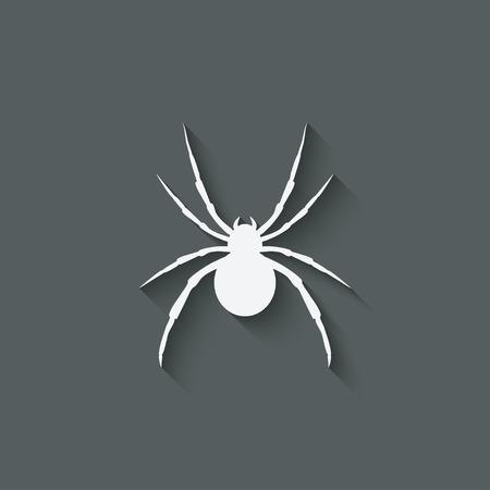 black widow: spider design element Illustration