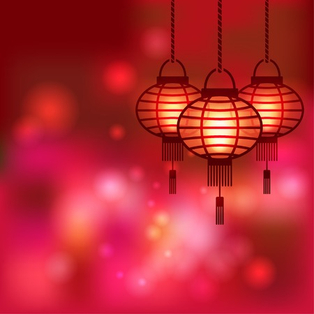 Chinese lantern blurred background