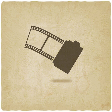 old film: camera film roll old background