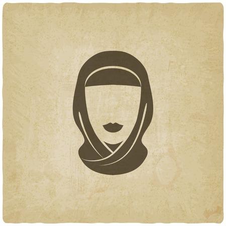 femme musulmane: Arabe femme avatar vieux fond