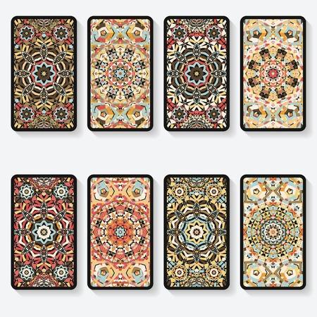 Cartes de visite collection avec motif kaléidoscope Banque d'images - 31733280
