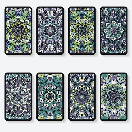 Visitenkarten-Auflistung mit Kaleidoskop-Muster Standard-Bild - 31768326