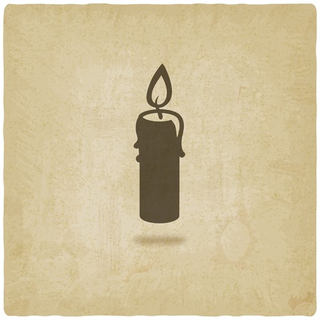 candle flame: candle old background